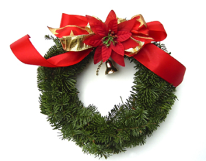 Christmas Wreath - with red tape?
